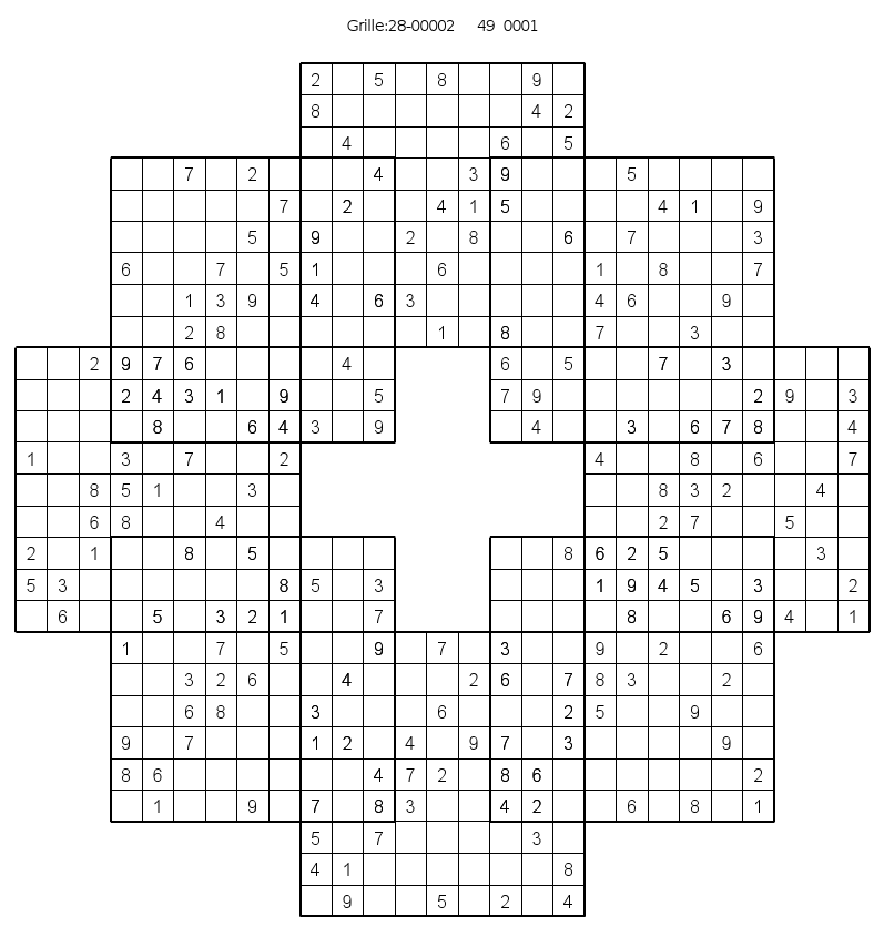 It is a picture of Vibrant Mega Sudoku Printable