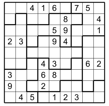 image about Jigsaw Sudoku Printable referred to as Jigsaw Sudoku e : no 2