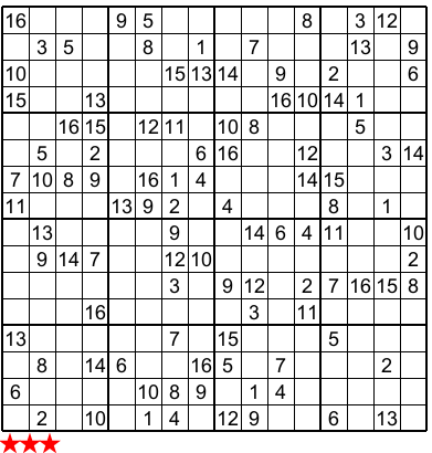Gorgeous image within sudoku 16x16 printable