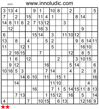 Declarative image in sudoku 16x16 printable