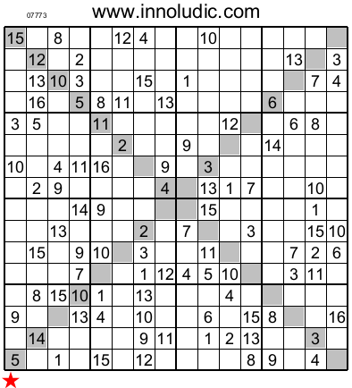 Inventive image throughout 16 square sudoku printable