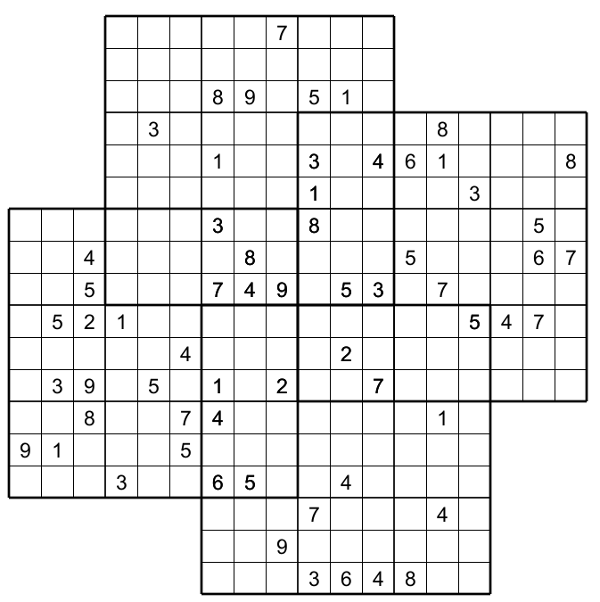 photograph relating to Multi Sudoku Printable identify Quatro