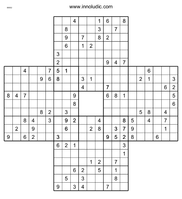 picture about Multi Sudoku Printable called Quatro