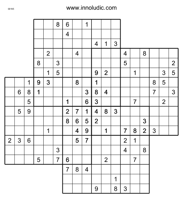 image relating to Multi Sudoku Printable identified as Quatro