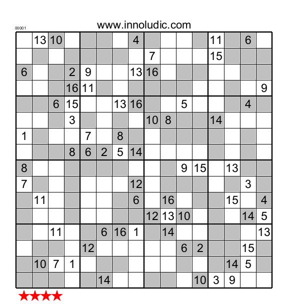 graphic about Sudoku 16x16 Printable called Tremendous Sudoku 16X16 even/weird