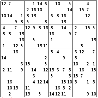 Soft image intended for 16 square sudoku printable