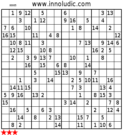 sudoku 16x16 da