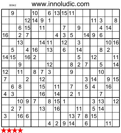 Soft image intended for sudoku 16x16 printable