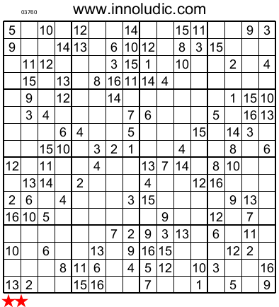 Super Sudoku 16X16 e :no 7