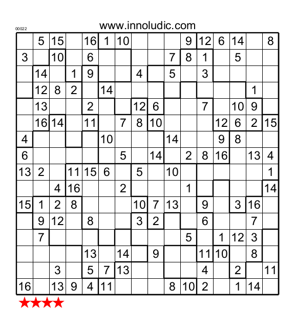 graphic about Jigsaw Sudoku Printable named Jigsaw