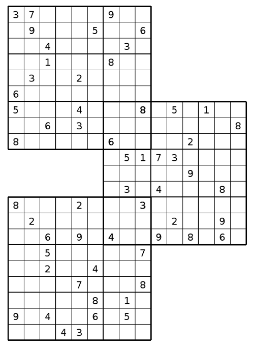 Bright image within multi sudoku printable